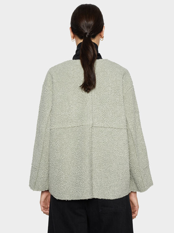 Faux Shearling Jacket, Grey, hi-res