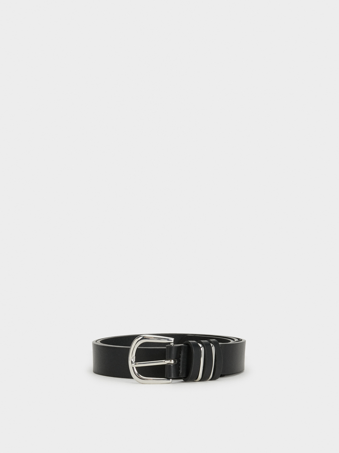 Basic Belt, Black, hi-res