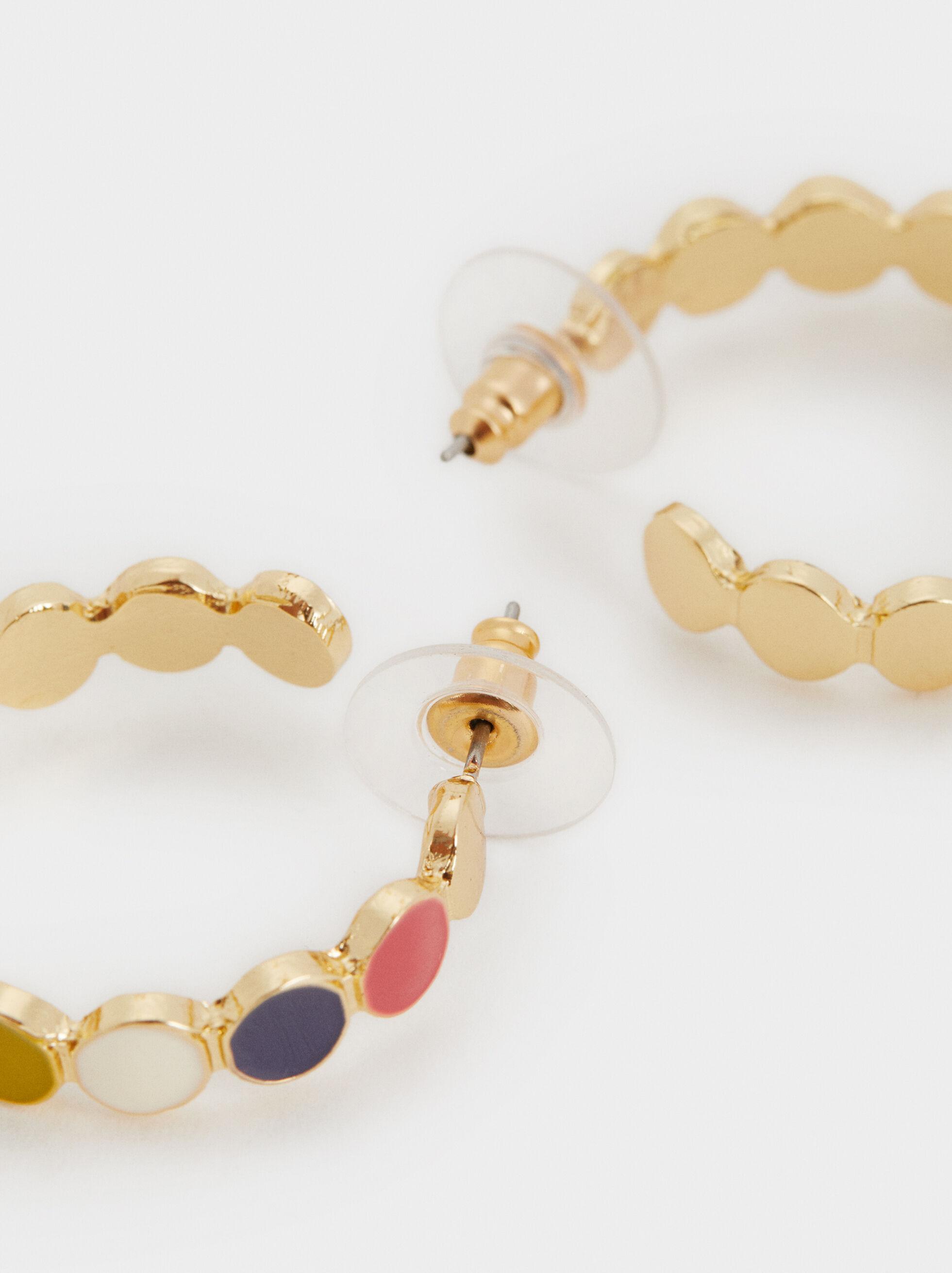 Wild Color Medium Hoop Earrings, Multicolor, hi-res