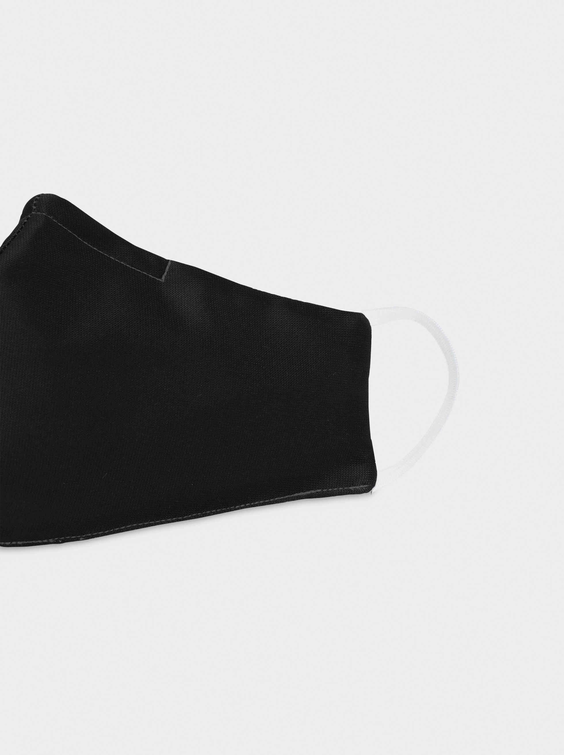 Mascarilla Reutilizable Negra, Negro, hi-res