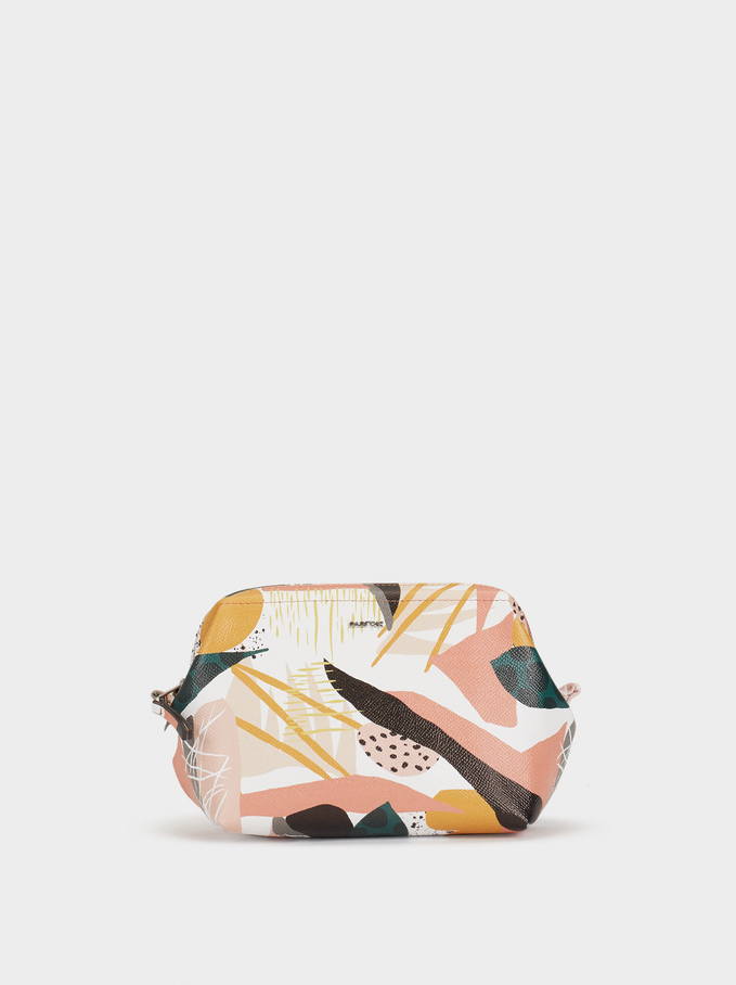 Printed Toiletry Bag, Pink, hi-res