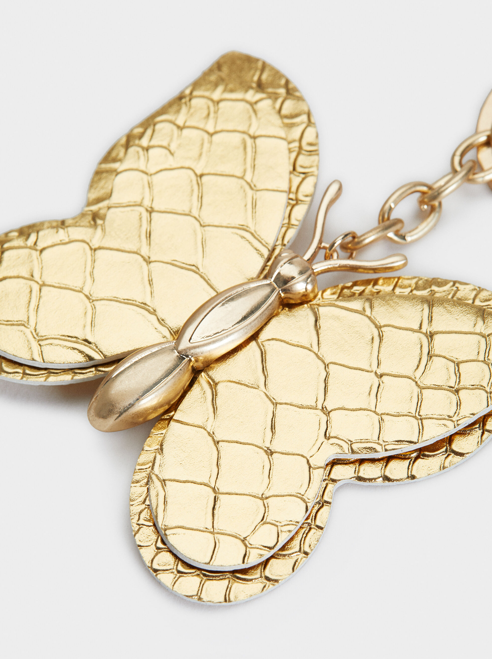 Butterfly Key Ring, Golden, hi-res