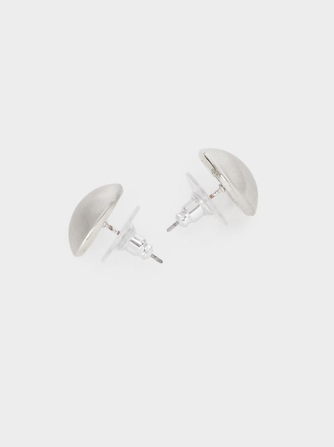 Basic Short Earrings, Silver, hi-res