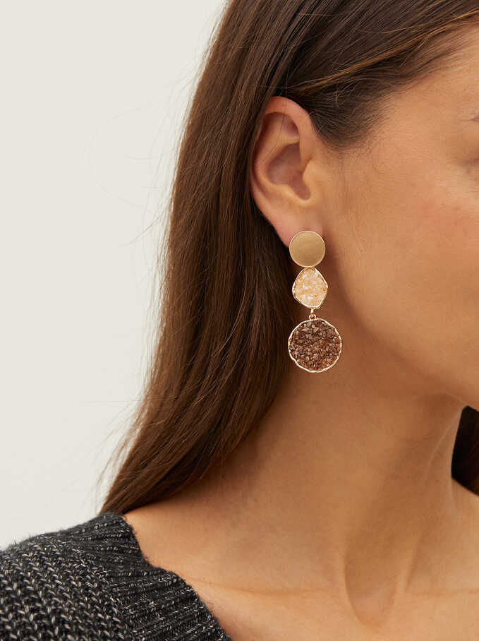Long Earrings With Crystals, Multicolor, hi-res