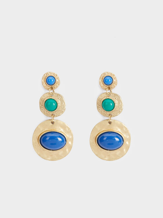 Long Zorba Earrings With Stones, Multicolor, hi-res