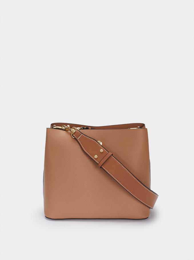 Shoulder Bag With Removable Shoulder Strap, Camel, hi-res