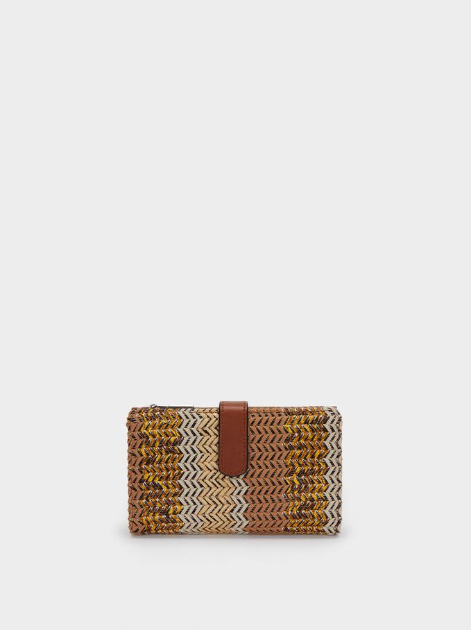 Combined Long Wallet, Camel, hi-res