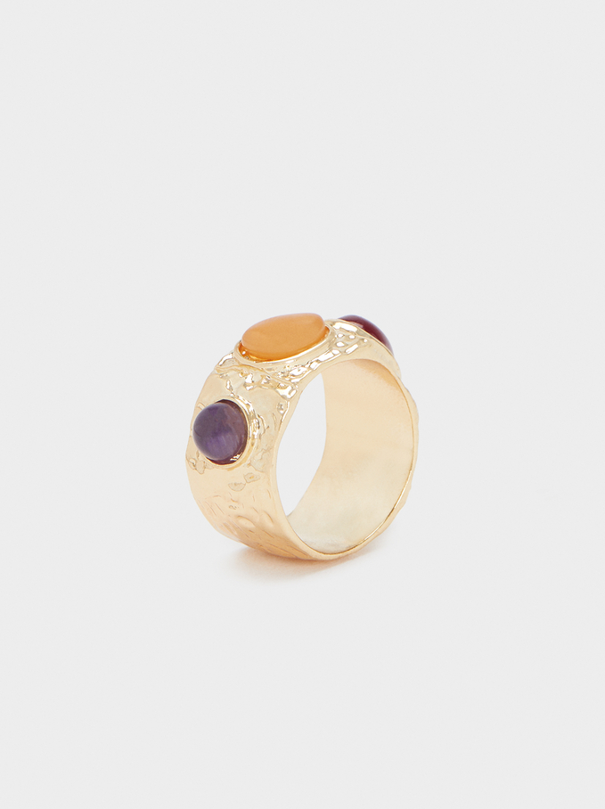 Ring With Multicoloured Stones, Multicolor, hi-res