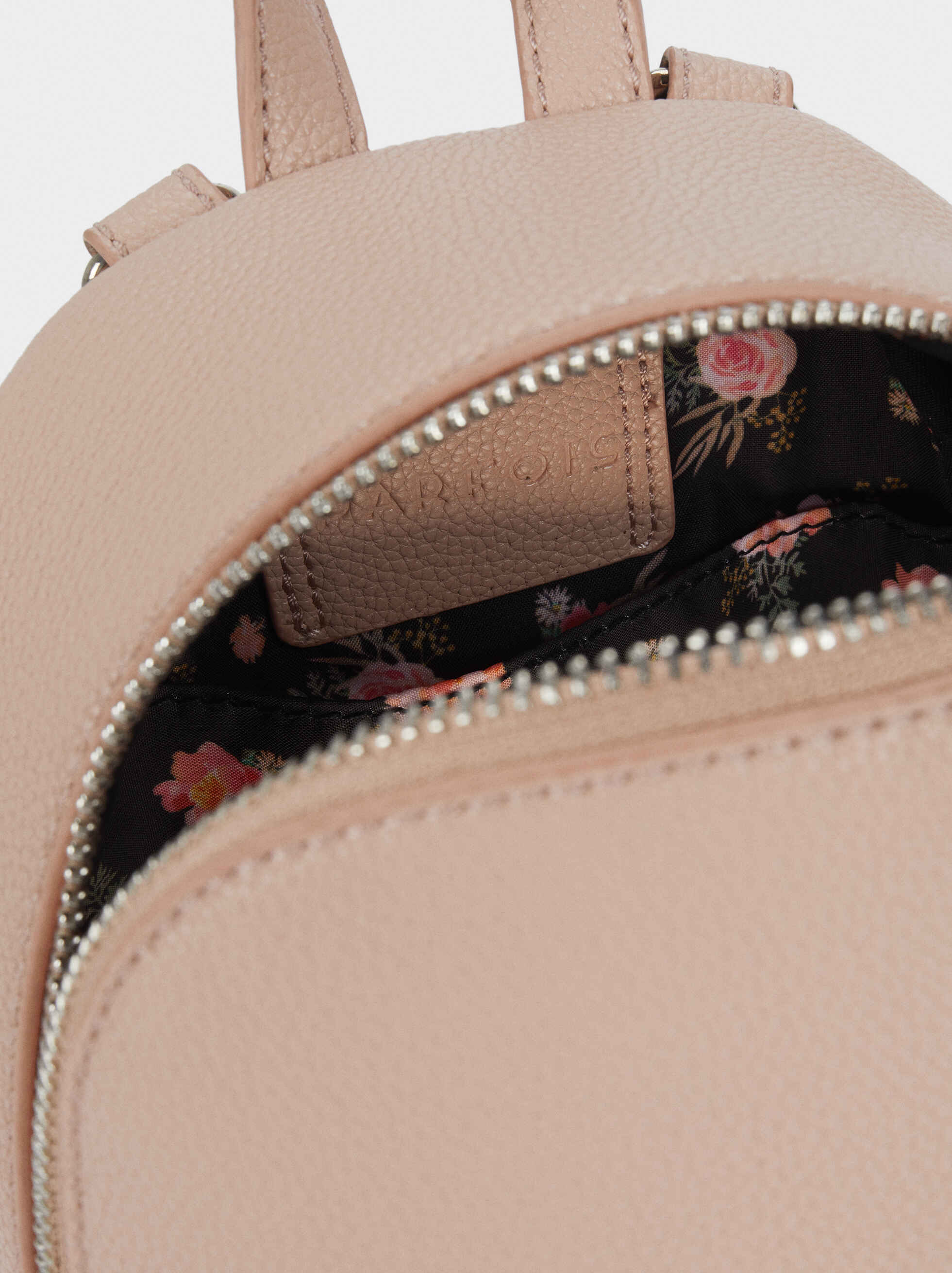 Backpack With Outer Pocket, Pink, hi-res