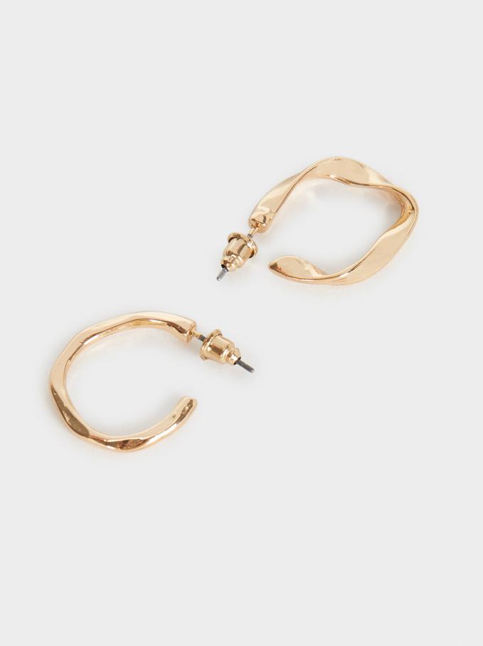 Basic Hoop Earring Set, Golden, hi-res