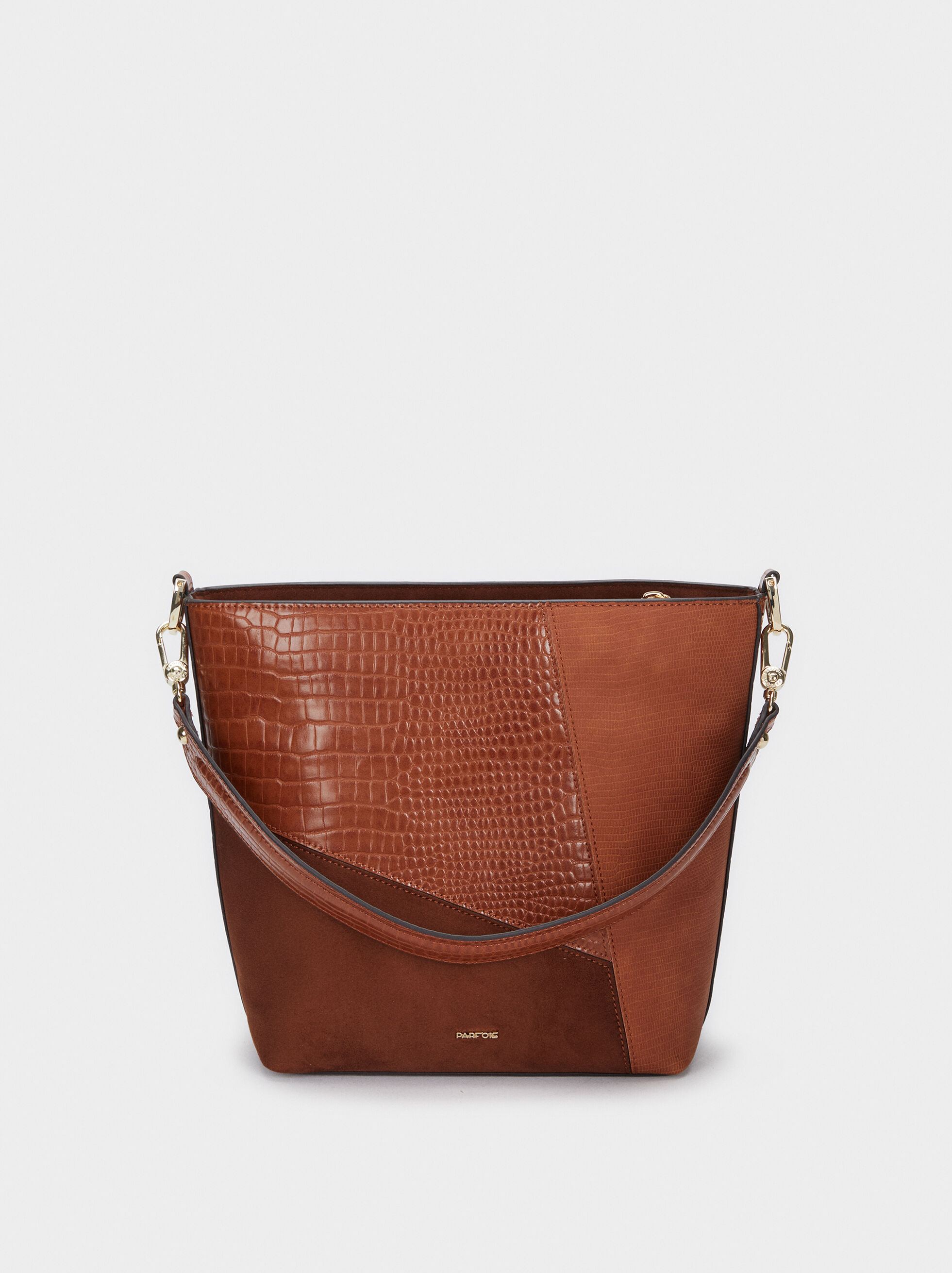 Patchwork Design Shoulder Bag, Camel, hi-res