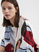 Printed Kimono, White, hi-res