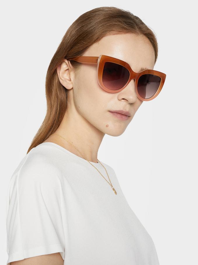 Cat Eye Sunglasses, Camel, hi-res