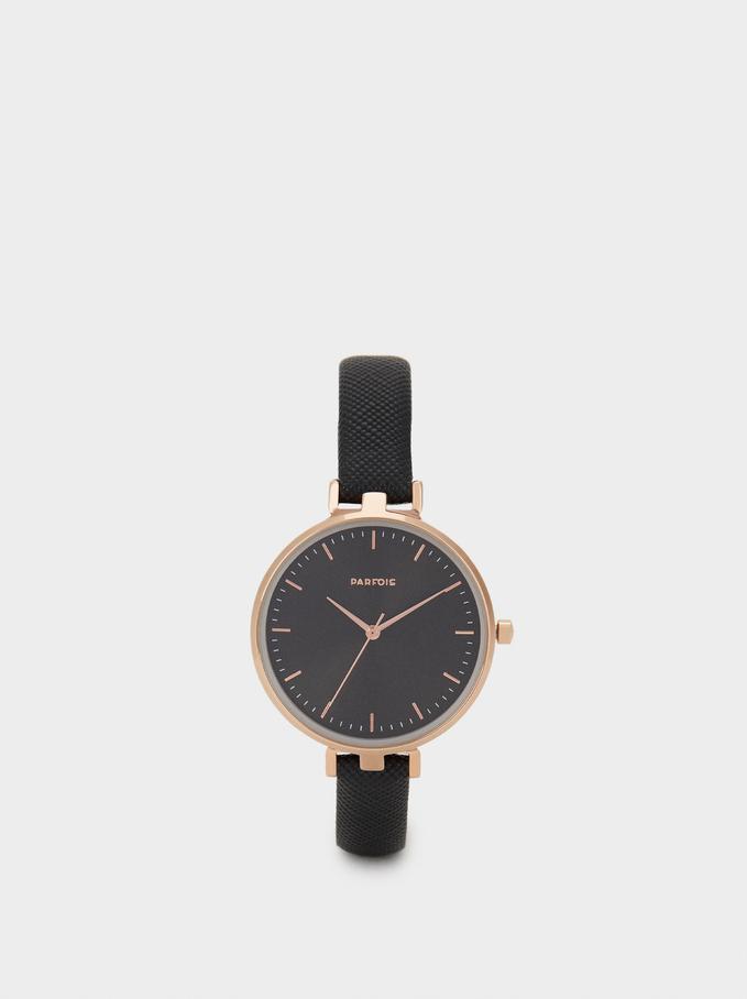 Reloj De Pulsera Grabada, Negro, hi-res