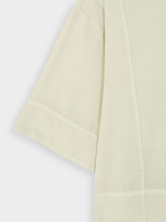 100% Lyocell Short Sleeve Shirt, Grey, hi-res