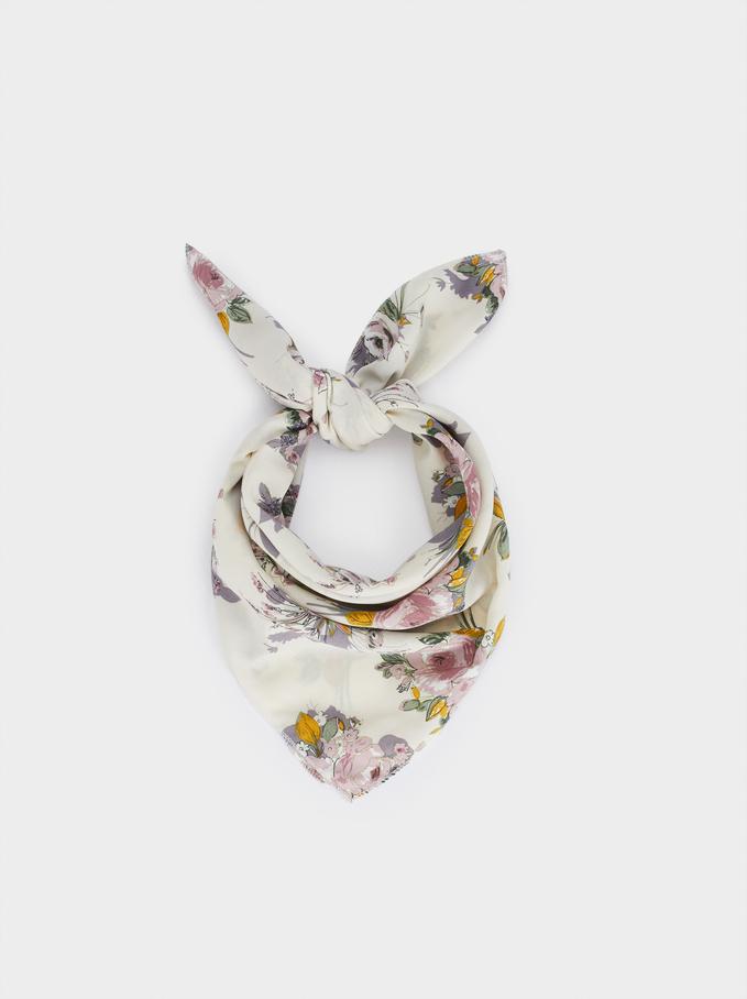 Serre-Tête Foulard Imprimé Floral, Multicolore, hi-res