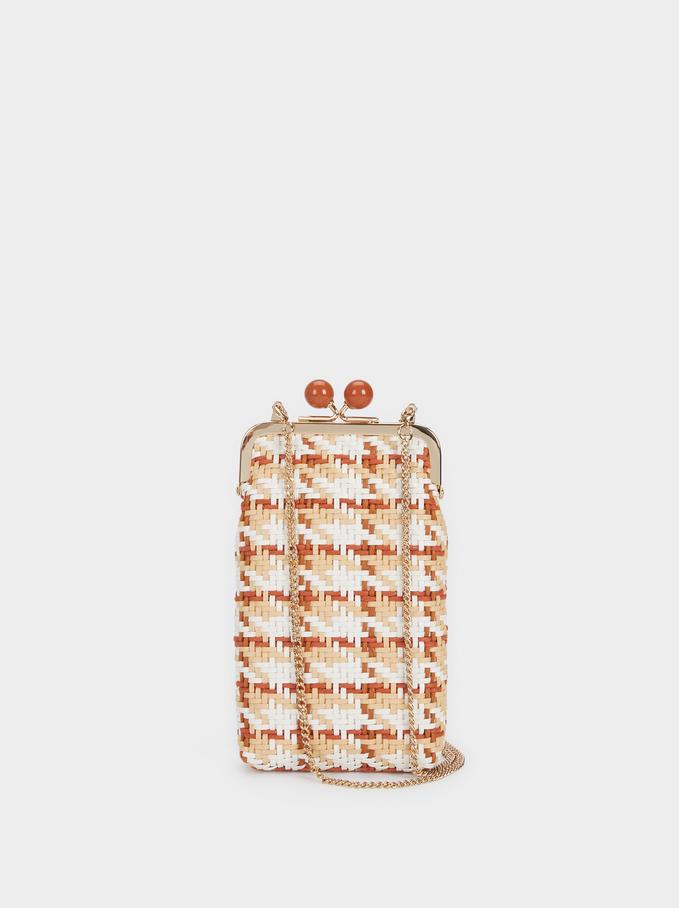 Braided Phone Case, Orange, hi-res