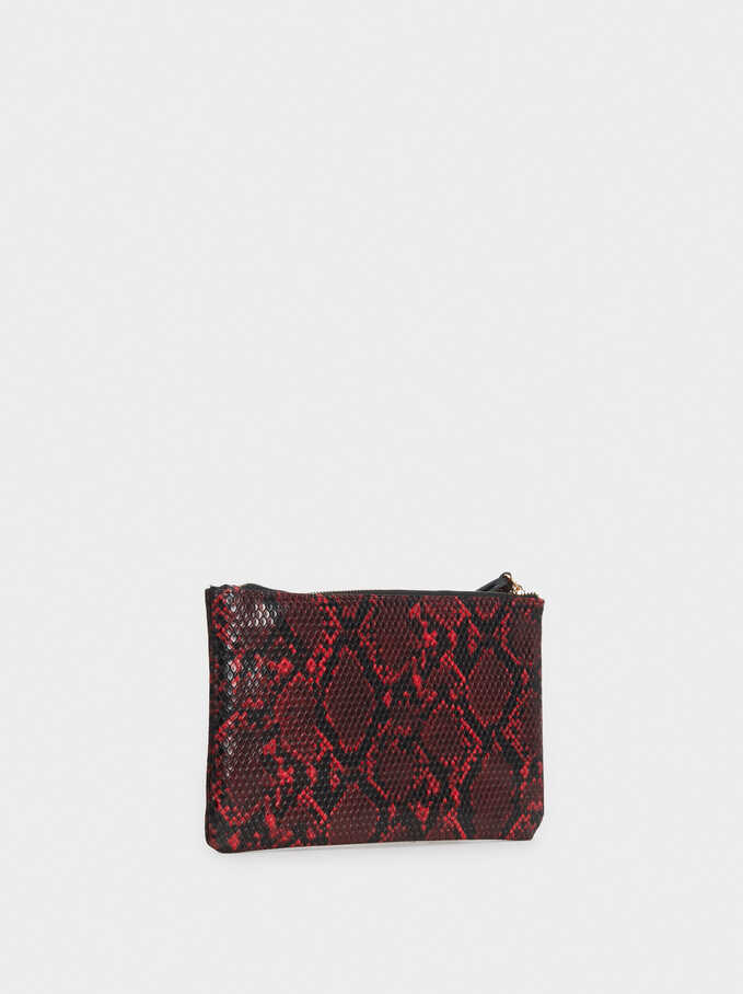 Dark Shadow Cosmetic Purse, Red, hi-res