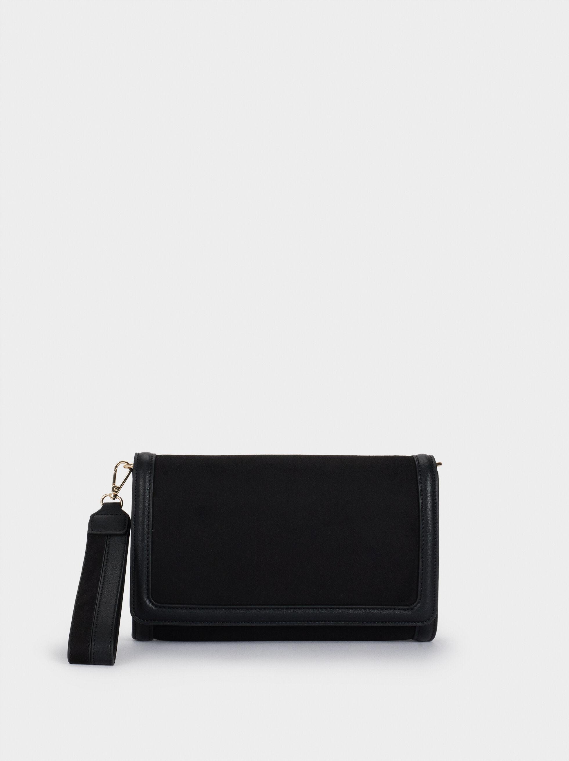 Textured Suede Handbag, , hi-res