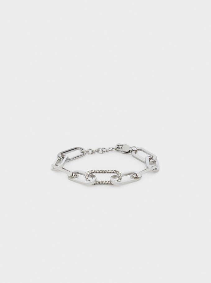 Stainless Steel Links Bracelet, Silver, hi-res