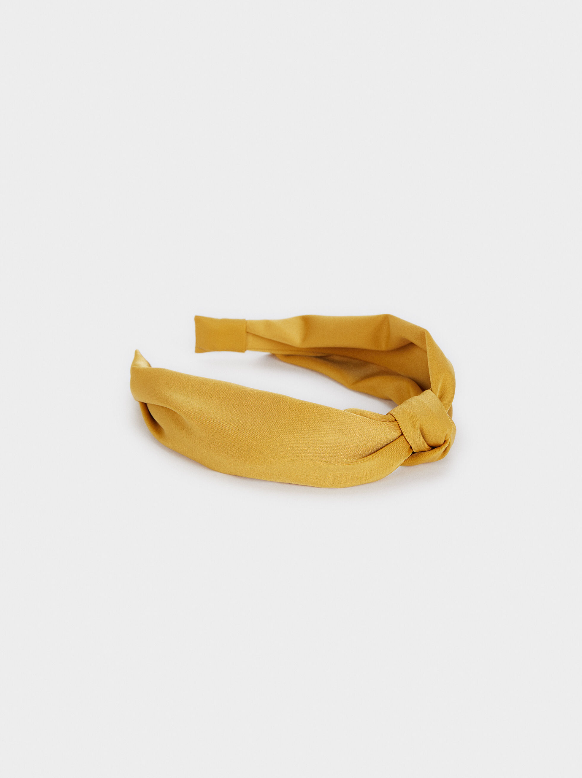 Multicoloured Printed Headband, Mustard, hi-res