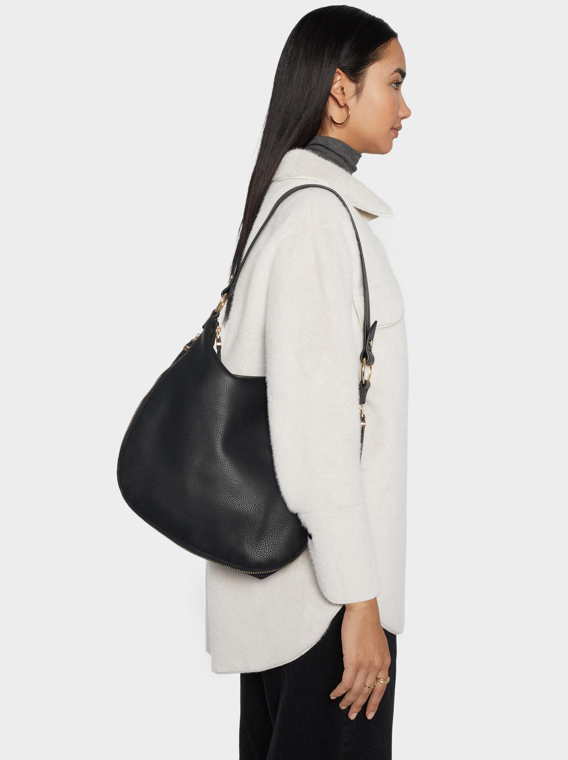 Bucket Bag With Faux Suede Trim, , hi-res