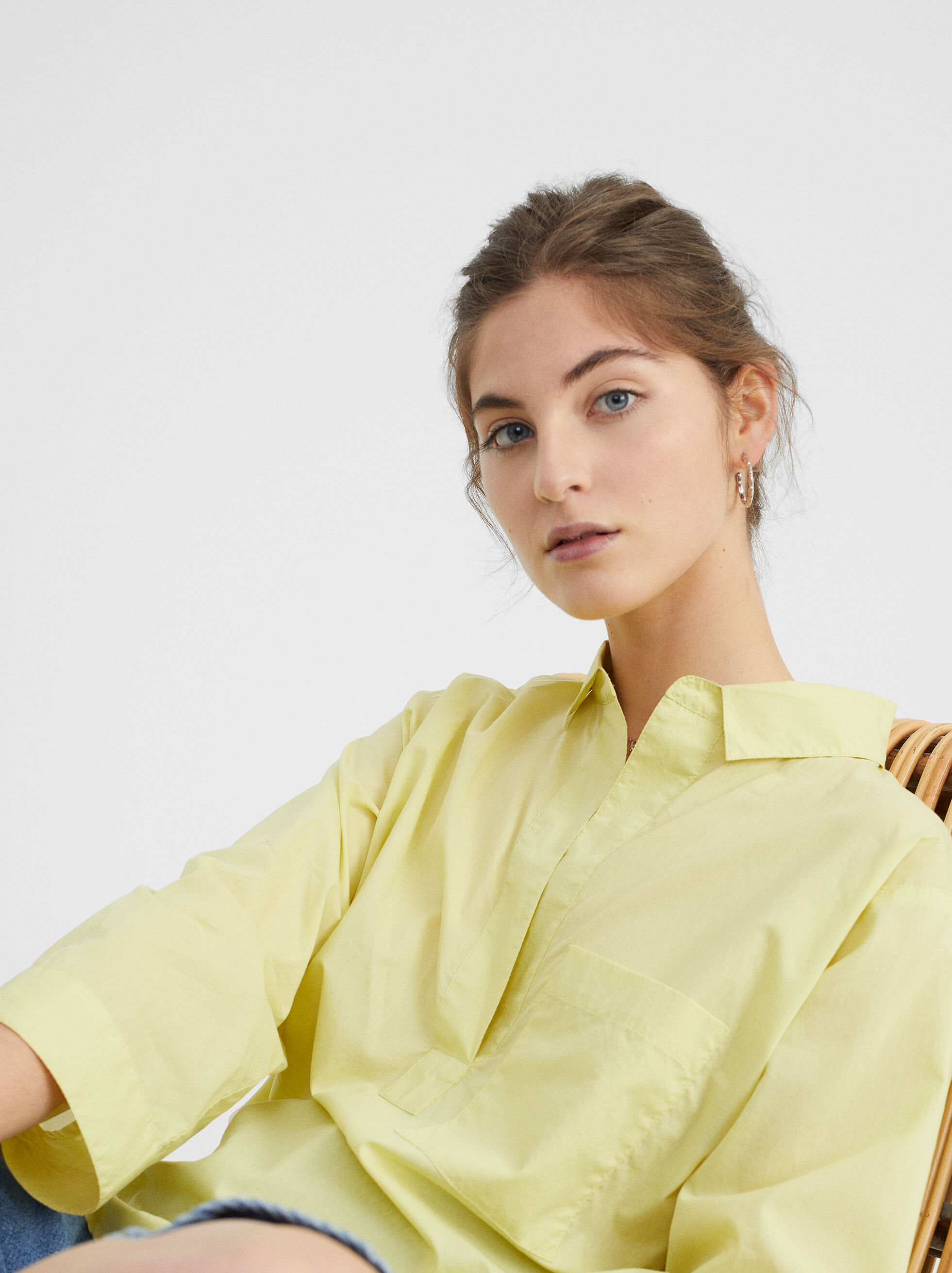 Oversized Shirt With Pocket, , hi-res