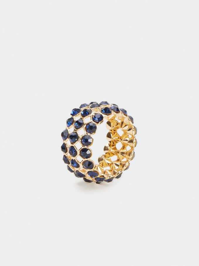 Savage Sparkle Ring, Golden, hi-res