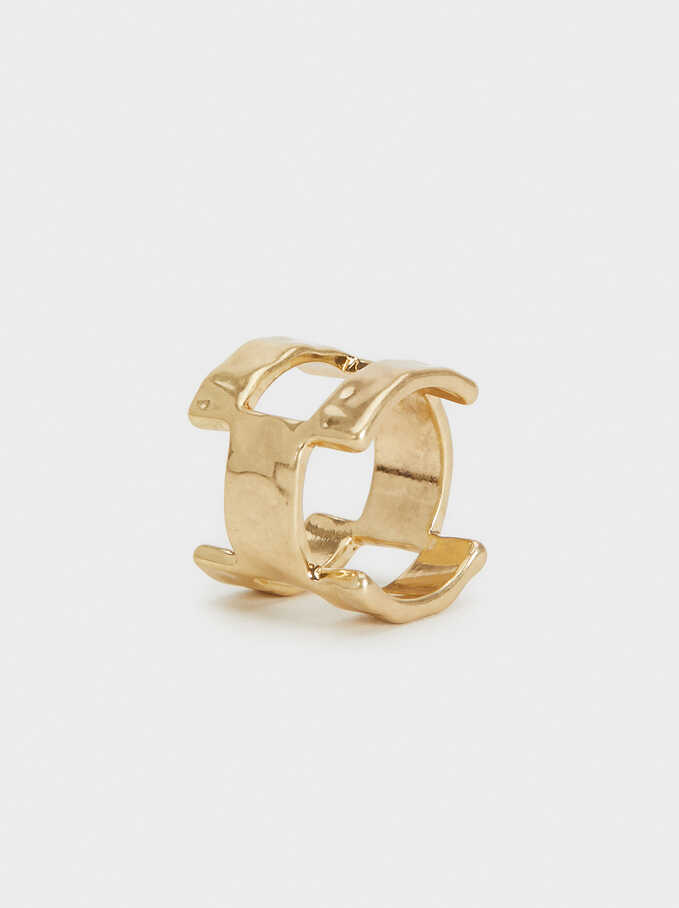Golden Basics Ring, Golden, hi-res