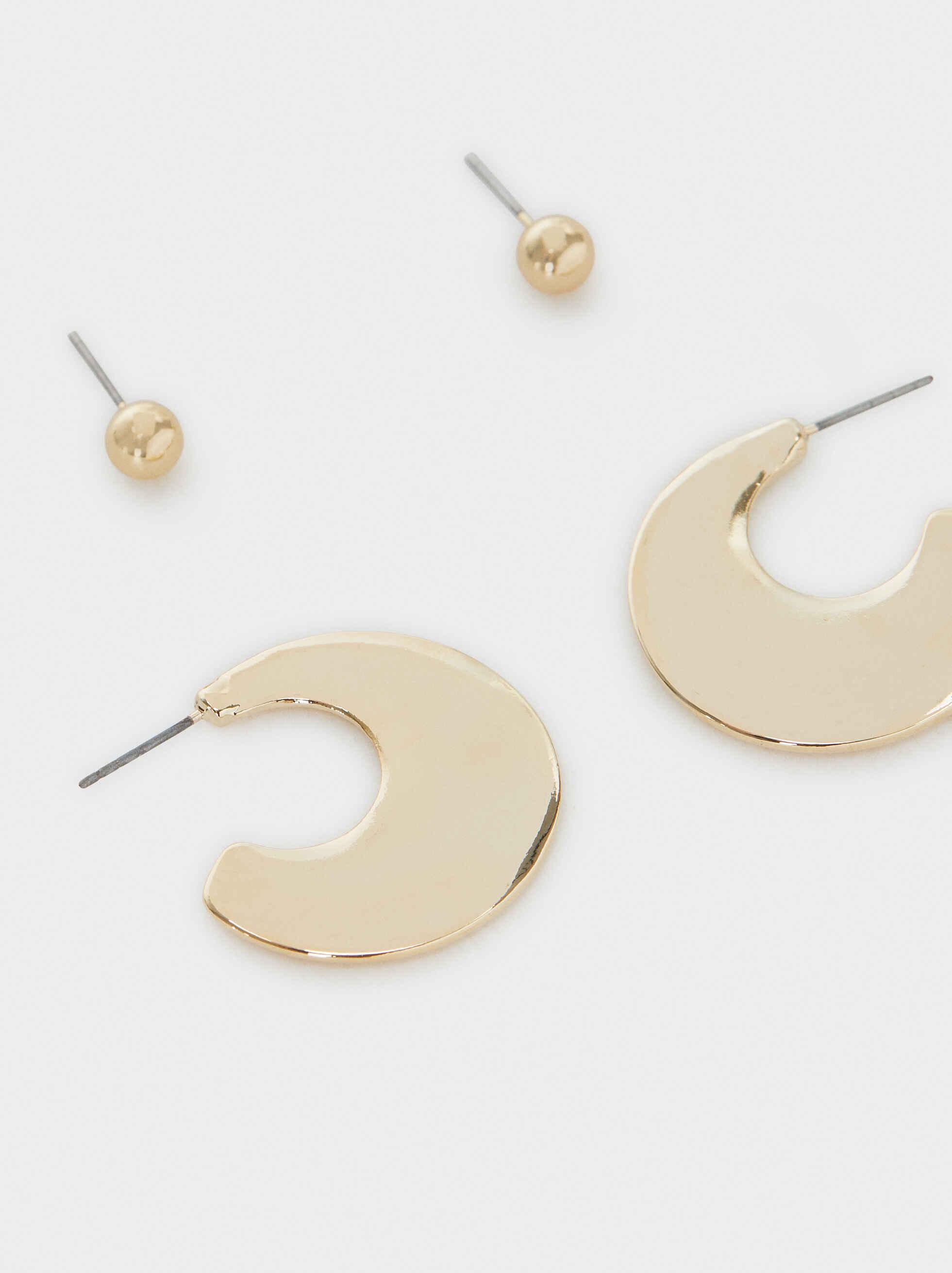 Hoop Fever Medium Earrings, Golden, hi-res