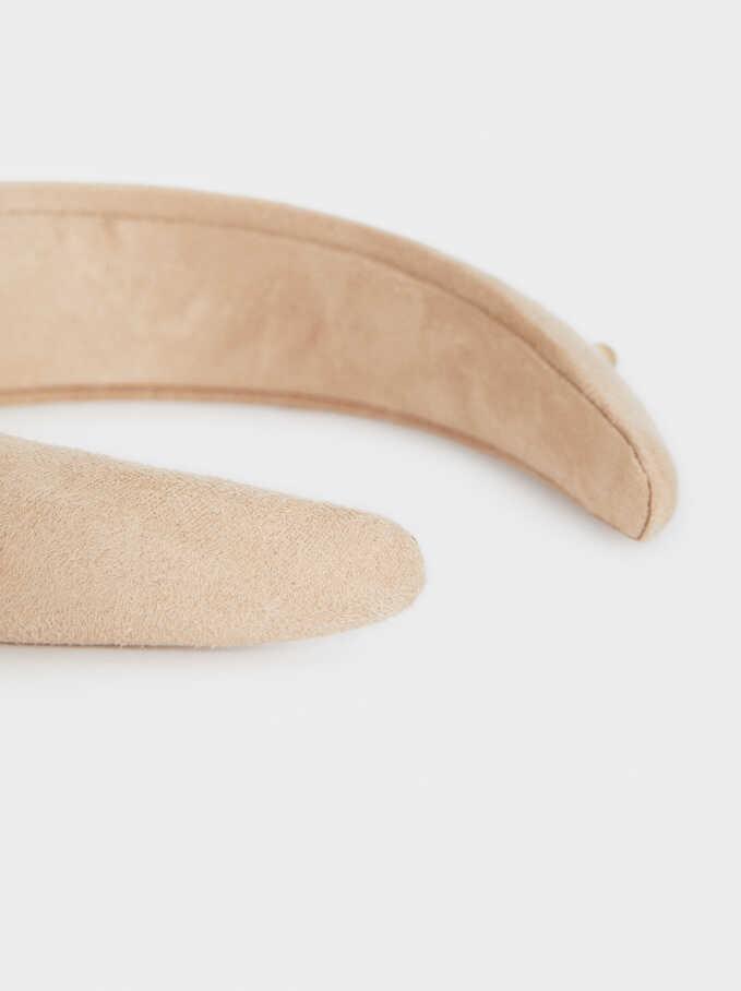 Wide Faux Pearl Headband, Beige, hi-res