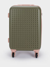 Trolley Suitcase With Zip Fastening, , hi-res