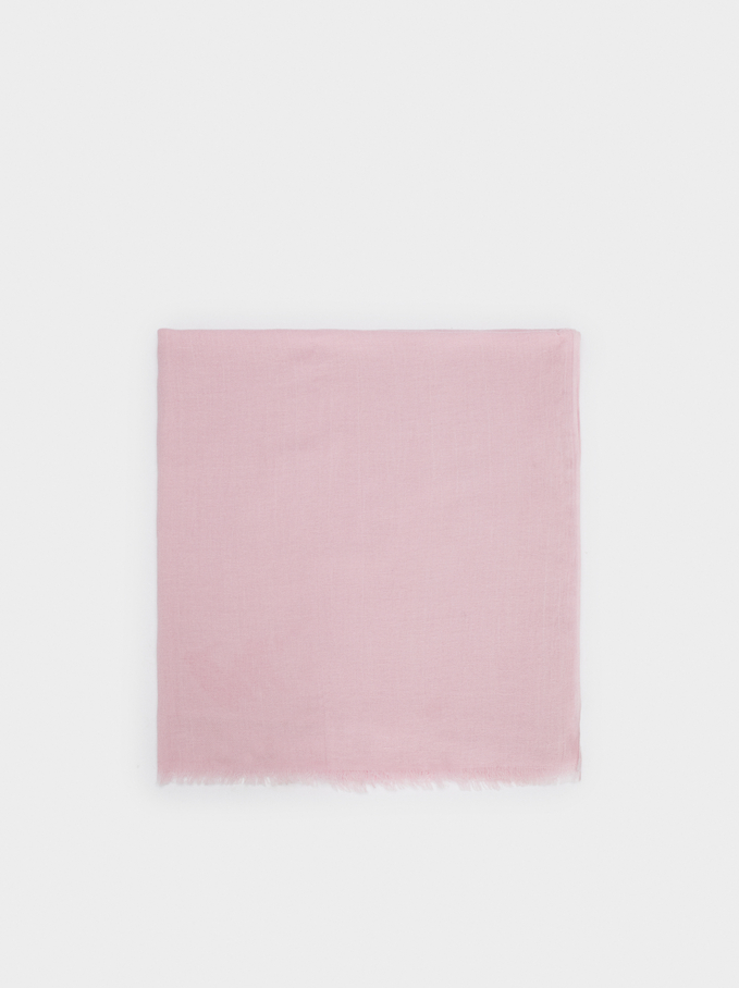 Plain Cotton Pashmina, Pink, hi-res
