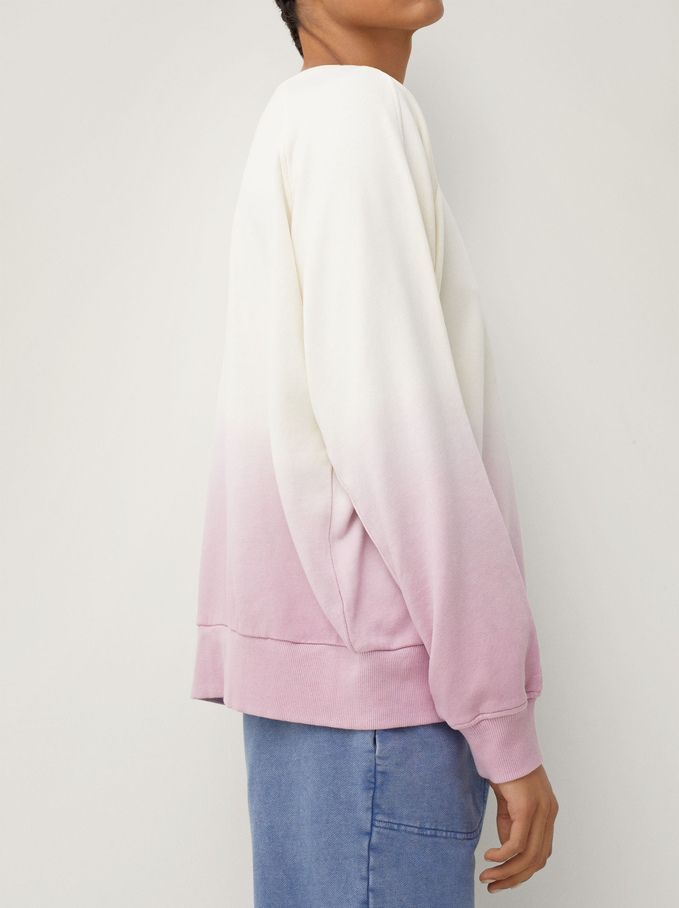 100% Cotton Sweatshirt, Pink, hi-res