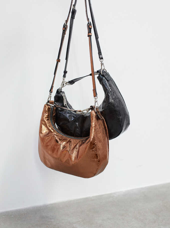 Baguette Shoulder Bag, Orange, hi-res