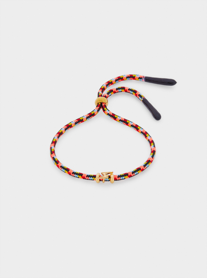 Multicoloured Adjustable Stainless Steel Bracelet, Multicolor, hi-res
