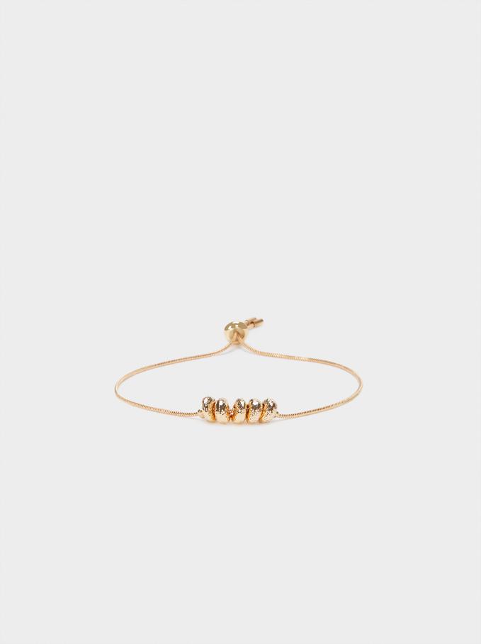Pulseira Elástica Dourada, Dourado, hi-res