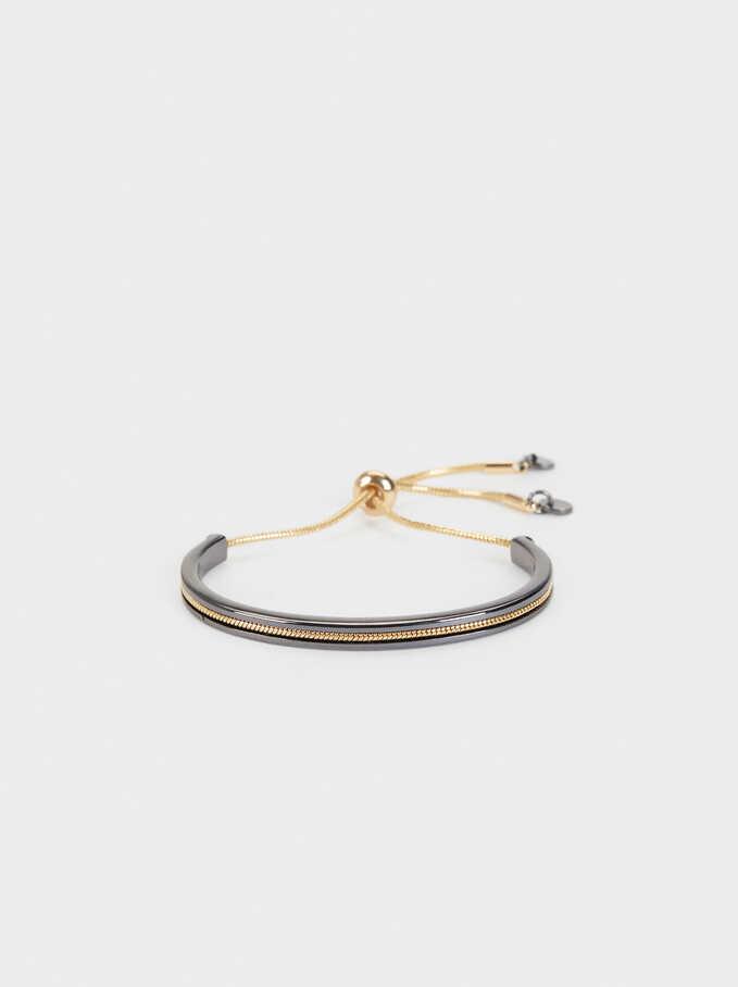 Adjustable Semi-Rigid Bracelet , Multicolor, hi-res
