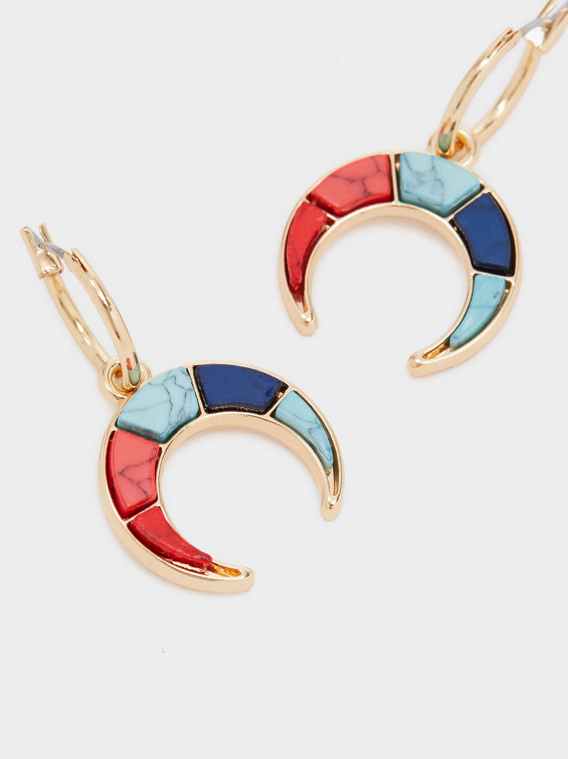 Recife Multi-Coloured Dangle Earrings, Multicolor, hi-res