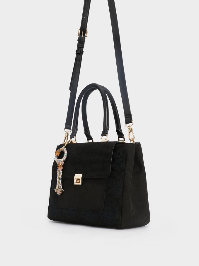 Belis Tote Bag, Black, hi-res