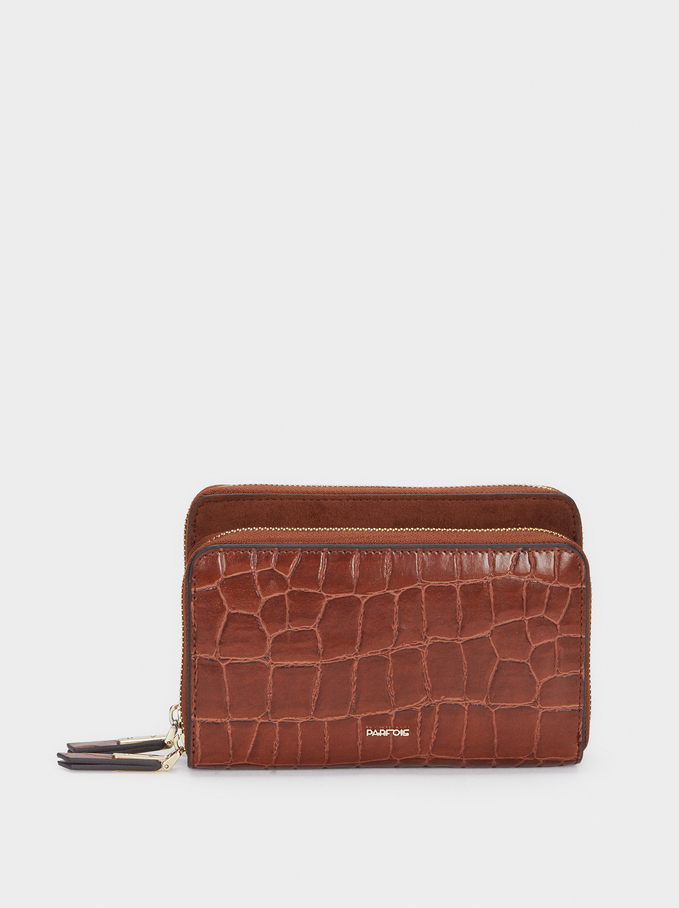 Animal Print Purse, Camel, hi-res