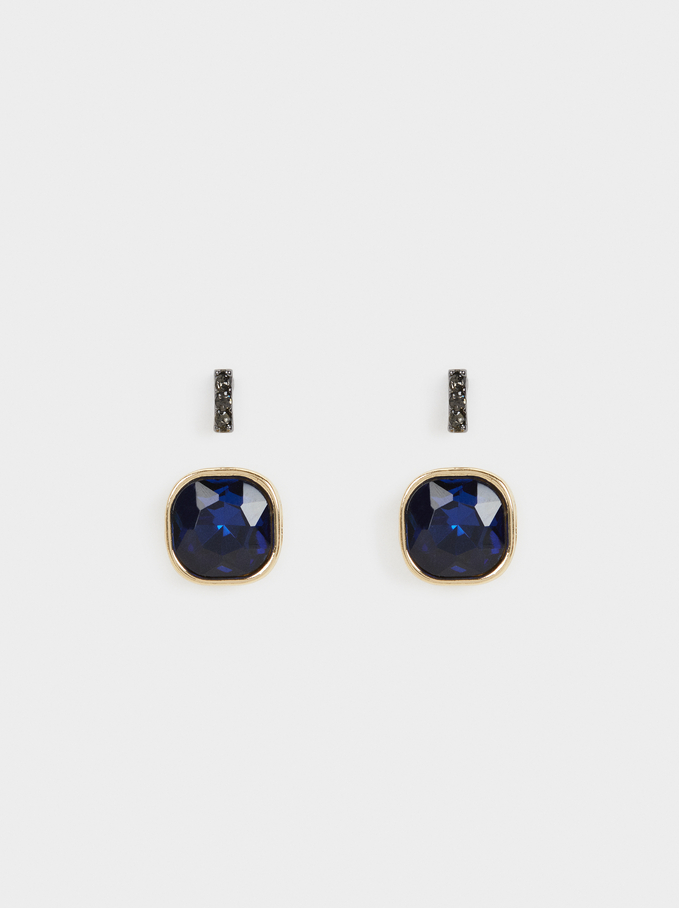 Savage Sparkle Earring Set, Blue, hi-res