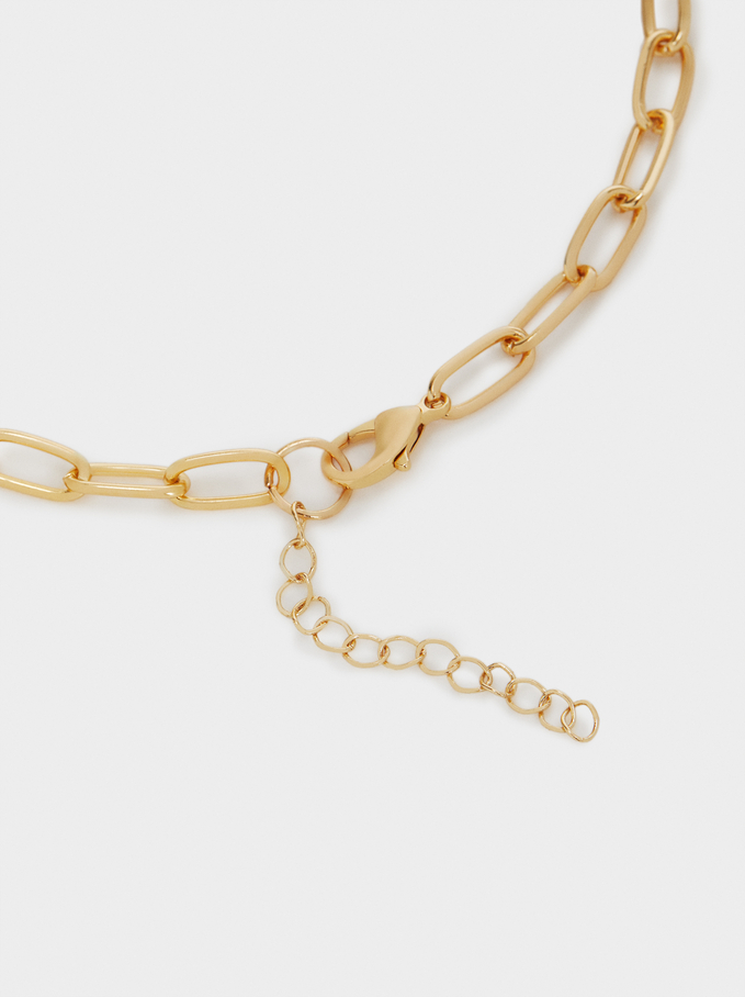 Long Chain Necklace With Pendant, Camel, hi-res