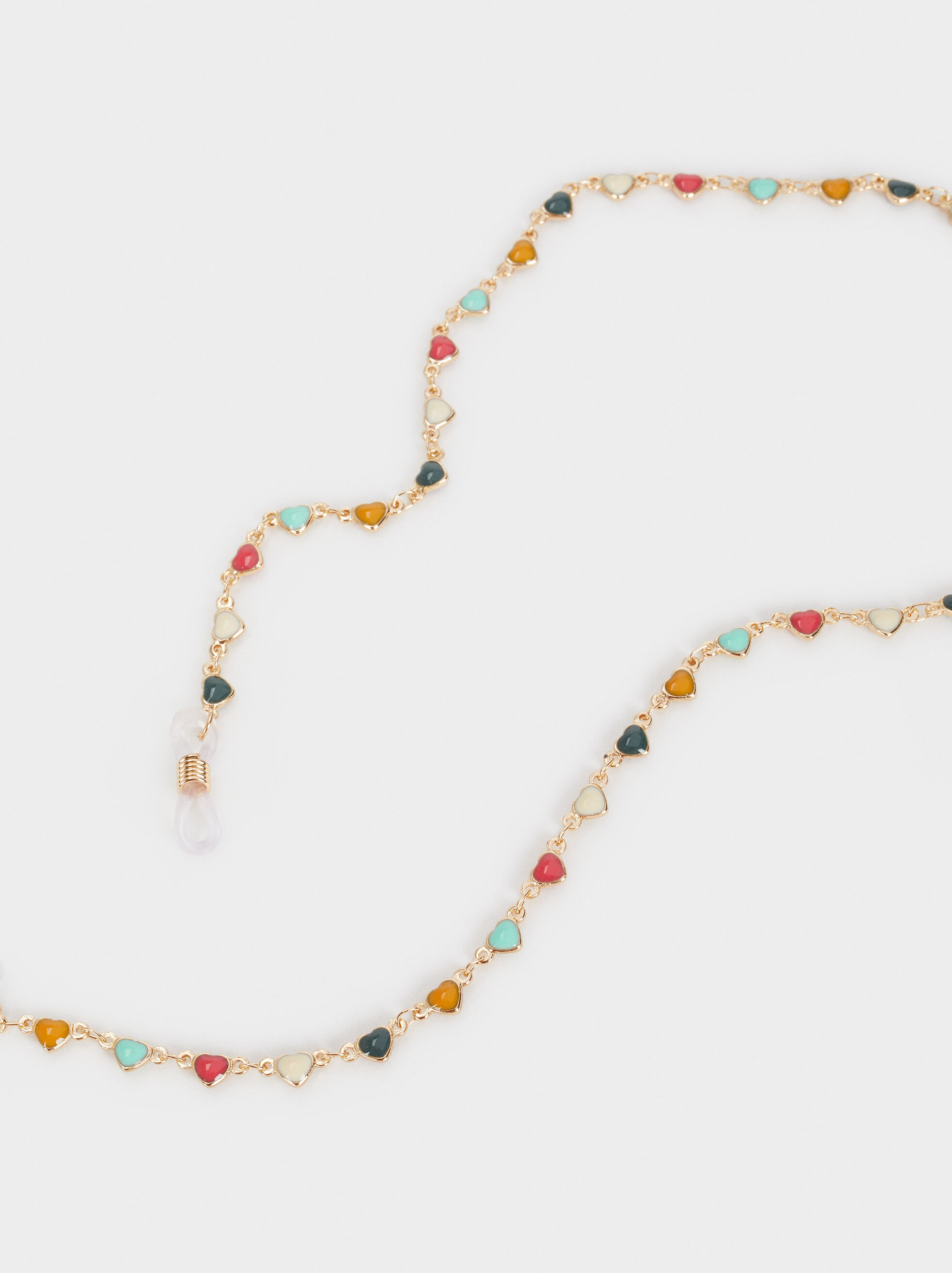 Glasses Chain With Hearts, Multicolor, hi-res