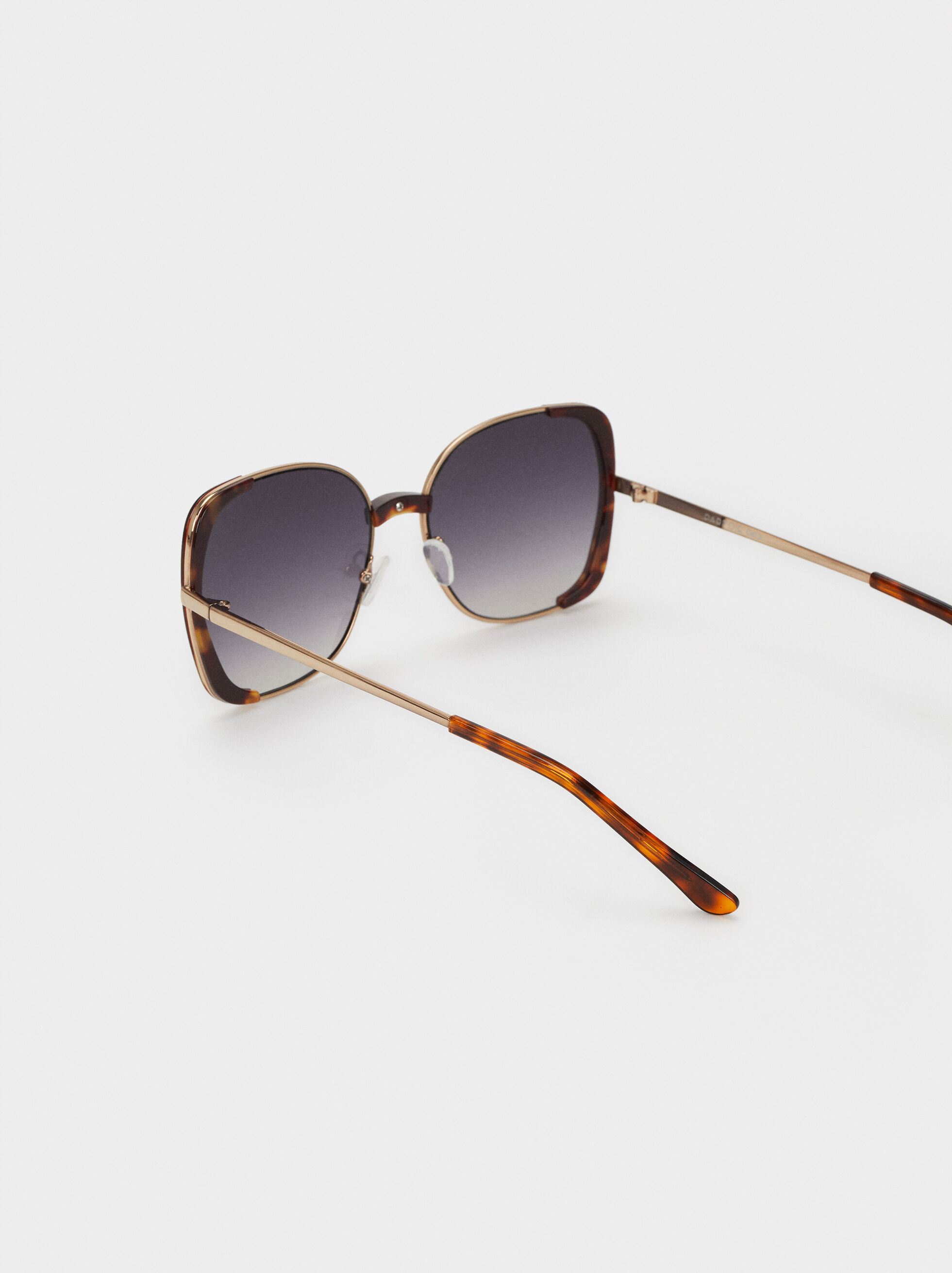 Square Tortoiseshell Sunglasses, Brown, hi-res