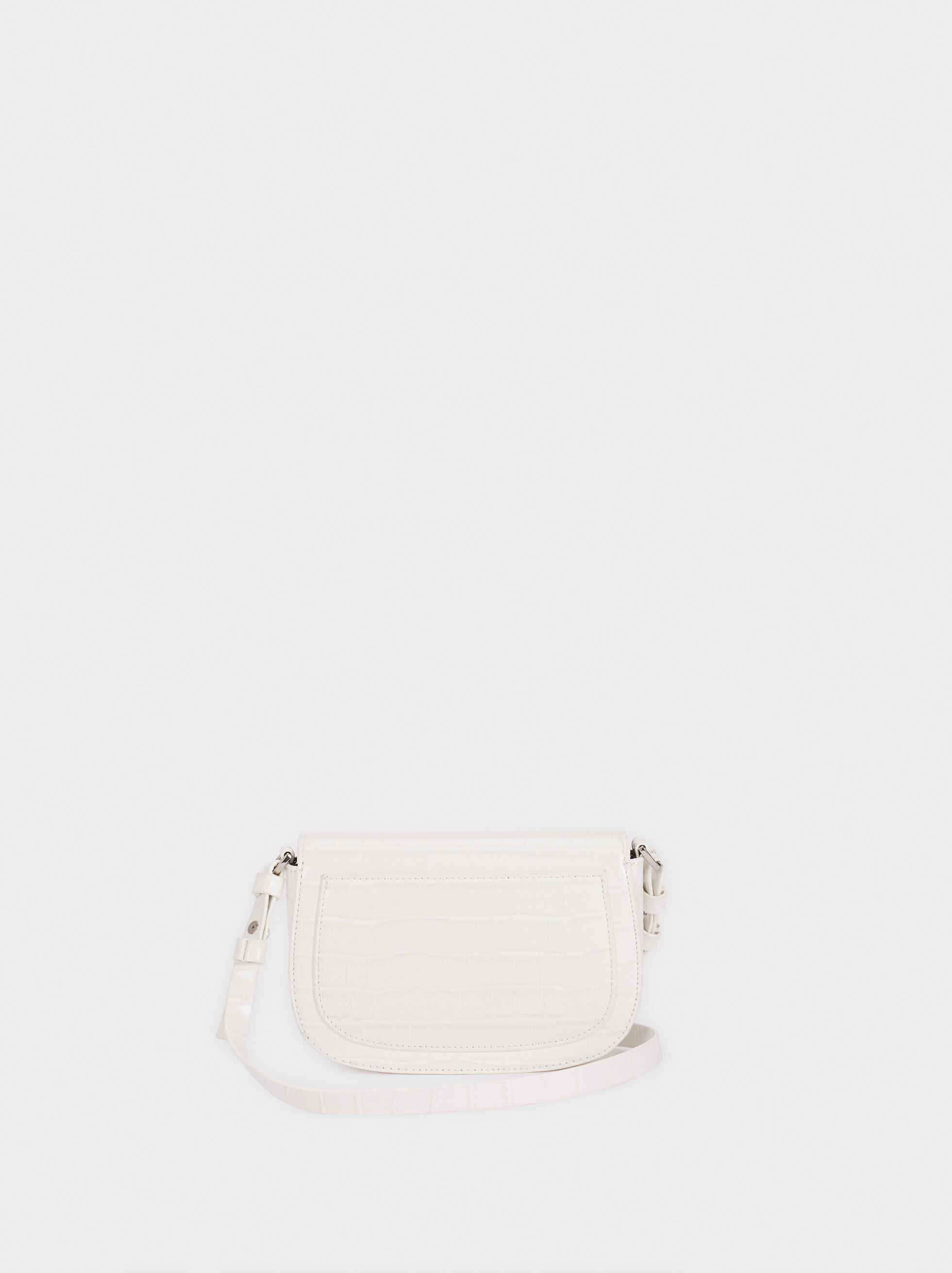 Animal Embossed Crossbody Bag, White, hi-res