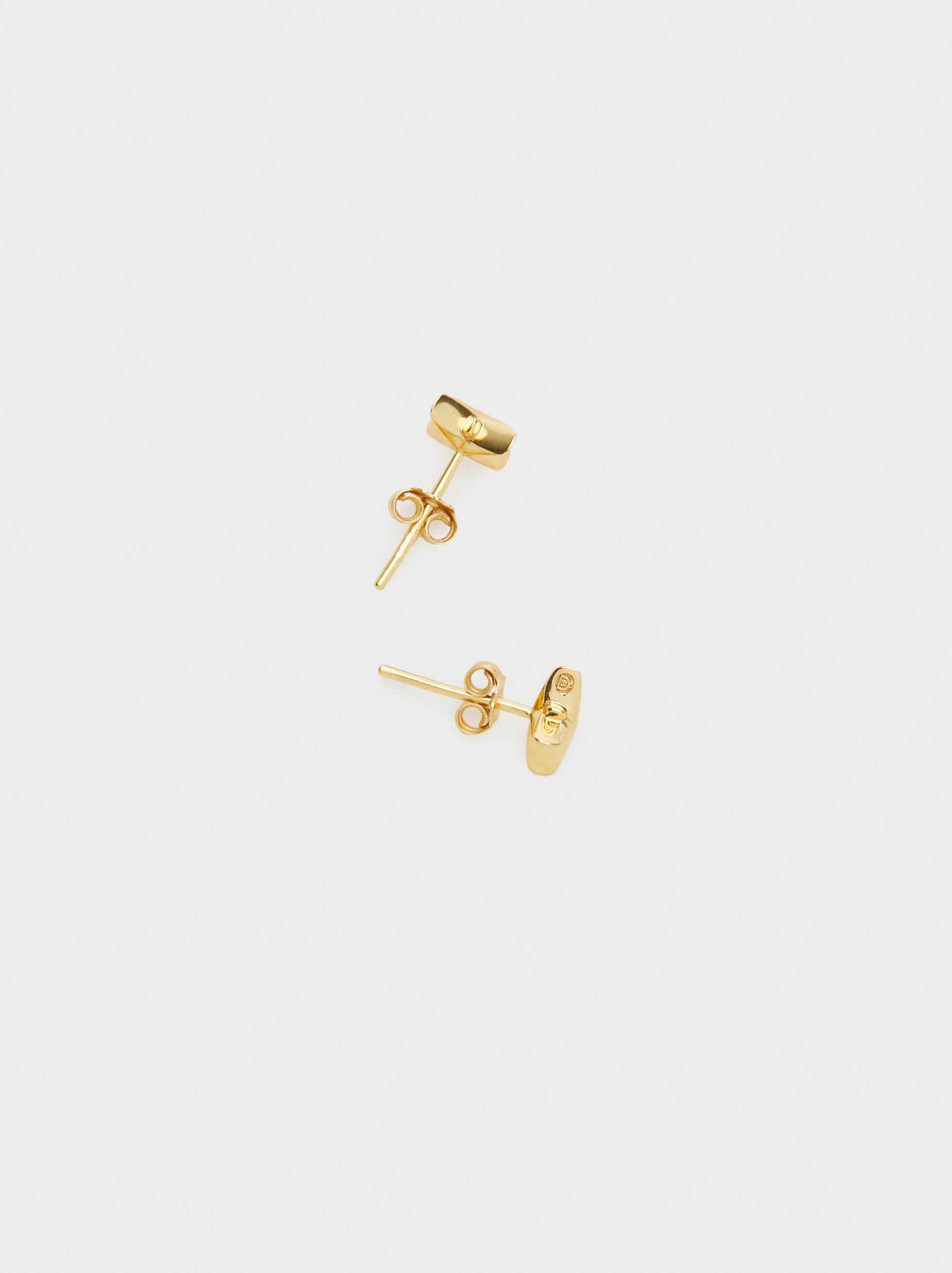 Pendientes Cortos De Plata 925 Estrella, Dorado, hi-res