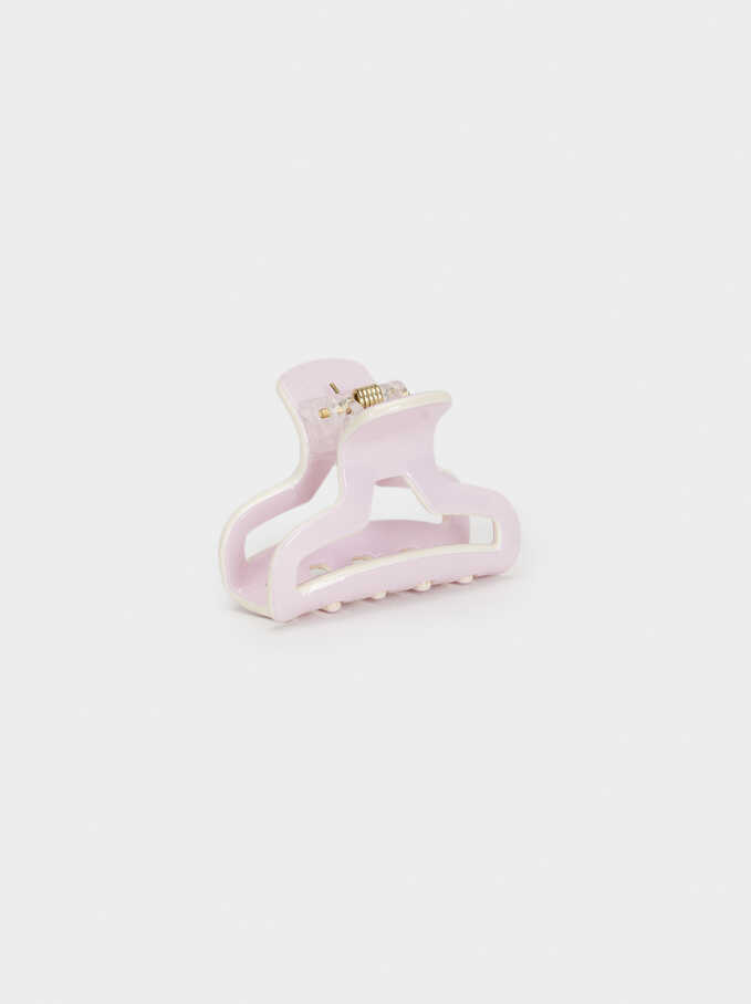 Basic Hair Claw, Pink, hi-res