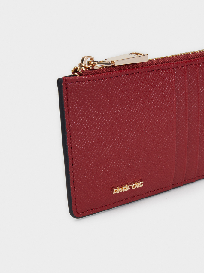 Card Holder With Clasp, Red, hi-res