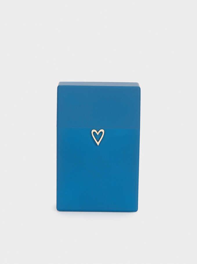 Caja De Mascarilla Corazón, Gris, hi-res